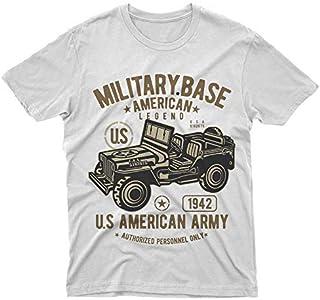 T-shirts, Débardeurs, Chemises Enfants Garçons Filles Américain Jeep T-shirt Armée Américaine Usa Militaire