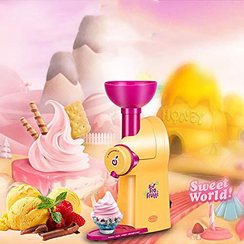 YLEI Eiscremeautomat, Professionelle Eismaschine, Eiswürfelbereiter, BPA-freie, Schnelle Zubereitung, produziert bis zu 1 Liter Eiscreme, Speiseeis oder Joghurt