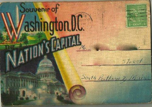 WASHINGTON DC, SOUVENIR OF NATION'S CAPITAL Bureau Engraving Washington Dc