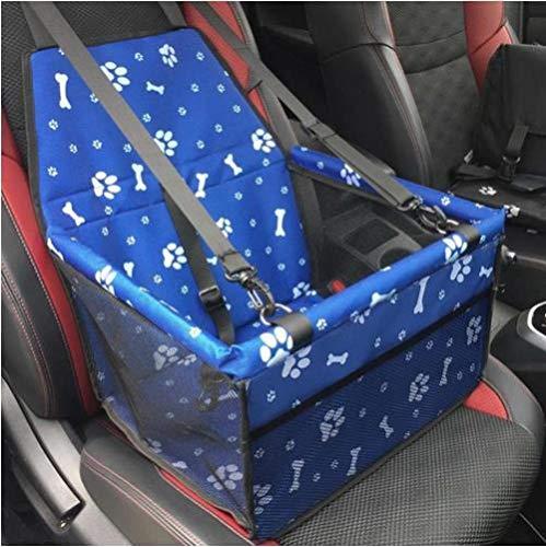 ZKBD-XTQ waterdichte auto huisdier stoelhoezen afdrukken Oxford stof enkele stoel reizen accessoires hond rug stoelhoezen mat huisdieren kussen mat, M, Blauw