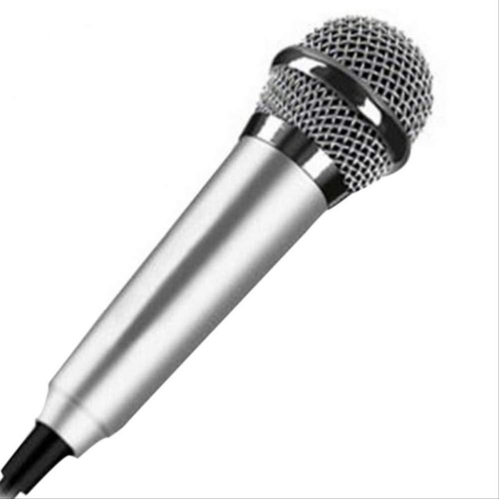 Microfono Inalambrico Bluetooth Stereo Studio Mic Ktv Karaoke Mini Micrófono Para Teléfono Celular Laptop Pc Desktop 5.5cm * 1.8cm Pequeño Tamaño Mic Plata: Amazon.es: Instrumentos musicales