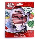 Mitten Cookie Cutter Set, 3 Piece, Stainless Steel