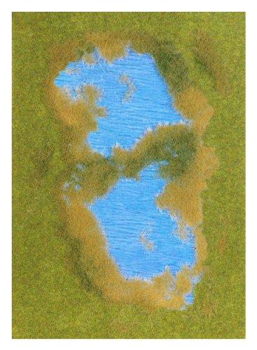 Busch 1312 - Groundcover -Bodendecker: See mit Ufergestaltung
