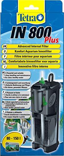 Tetra IN 800 Plus Filtro Interno per Acquari, Comodo e Potente, Filtro Interno per Il Filtraggio Meccanico, Biologico e Chimico