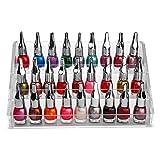 Kurtzy Organizador de Esmalte uñas 3 Niveles con Tornillos de plástico - Soporte de Esmalte uñas acrílico (24 cm x 11,5 cm) - Soporte Almacenamiento Capacidad de 30 Botellas tamaño estándar
