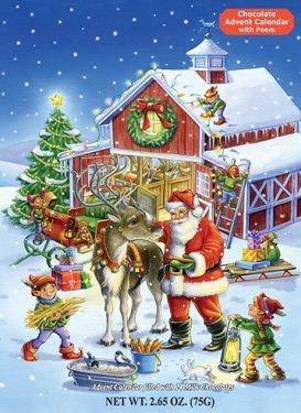Vermont Christmas Company - Calendario dell'Avvento con renna, colore: Cioccolato