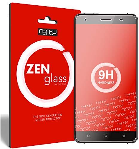 ZenGlass [2 Stück Flexible Glas-Folie kompatibel mit Oukitel C5 Pro Panzerfolie I Bildschirm-Schutzfolie 9H I (Kleiner Als Das Gewölbte Bildschirm)