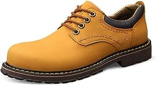 Chaussures décontractées Bottes de travail pour hommes, chaussures de haut en haut respirantes et sûres, velours de cuir c...