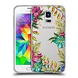 Head Case Designs Tropical Puissance de Fleur Coque en Gel Doux Compatible avec Samsung Galaxy S5 Mini