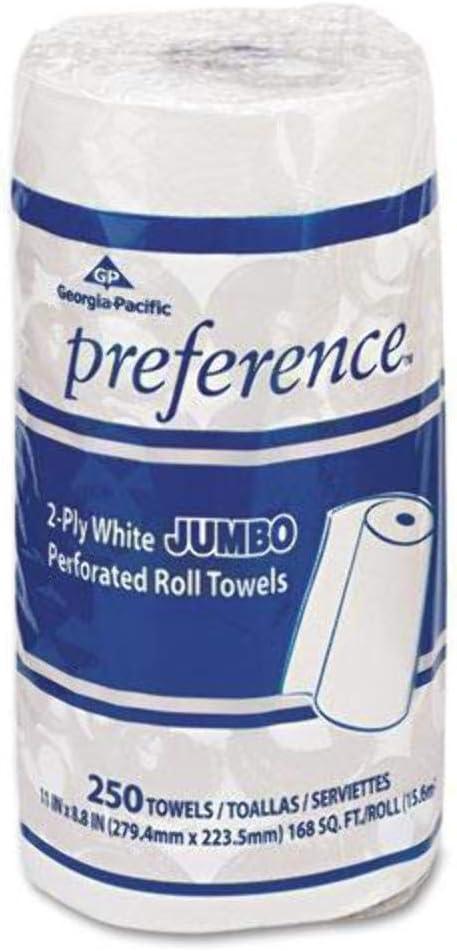 Perforated Paper Towel 8 4 5 x San Jose Mall Rolls 250 12 trust 11 Ca White Roll