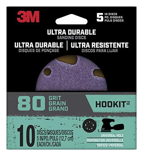 Buy Bargain 3M+Ultra+Durable+5+in.+Ceramic+Hook+and+Loop+Sanding+Disc+80+Grit+10+pk