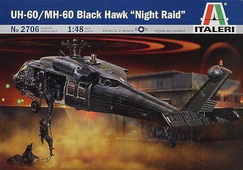 buen precio Italeri UH-60 MH-60 negro Hawk Night Night Night Raid 1 48 by Italeri  varios tamaños