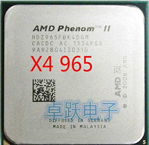Phenom II X4 965 CPU Processor Quad-Core (3.4Ghz/6M /125W) Socket AM3 938 Pin Working 100%