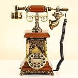 NYDZDM Teléfono Europeo Retro Moda casera Oficina Creativa con Cable Fijo Teléfono Antiguo Fijo Teléfono Fijo