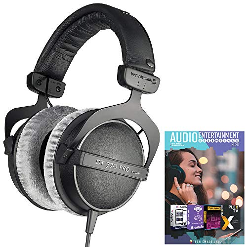 Find Discount beyerdynamic 474746 DT 770-PRO Studio Headphones 80 Ohms Closed Dynamic Bundle with Te...