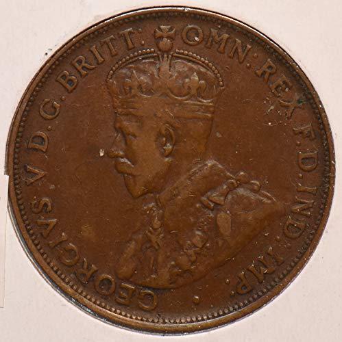 1920 AU Australia 1920 Penny NO DOT AU0076 DE PO-01