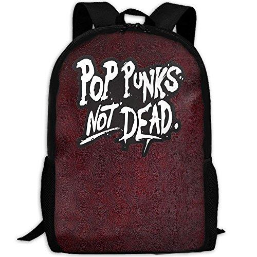 PoP Punks Not Dead InterestPrint Custom Unique Casual Backpack School Bag Travel Daypack Gift