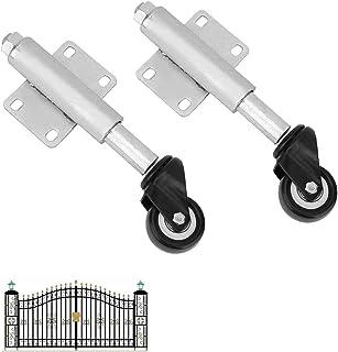 1,5 in/40 mm Swivel Caster Gate wiel, 2 stks platte vrije lente schokdemper intrekbare 60 mm, draagvermogen 100 lbs, stevi...