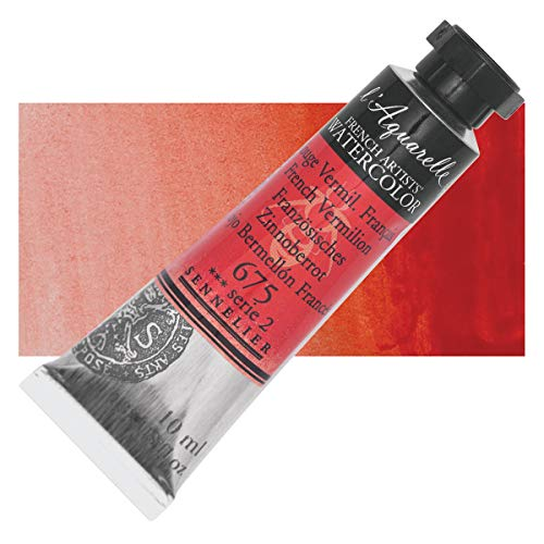 Sennelier l'Aquarelle Watercolor Tubes 10ml - French Vermilion 10ml Tube