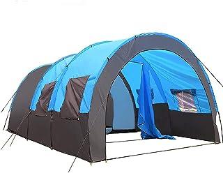 JQDZX Campingtunneltält, familjekupol tält med markis- UV-skydd vattentålig tunnel solskugga, sovrumstält sovområde 5-8 pe...