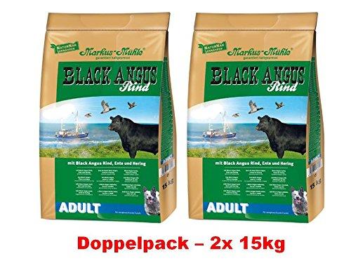 Markus molen Black Angus hondenvoer Adult, 15kg x 2