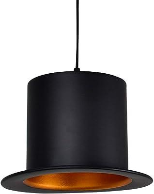 grande sélection acheter de nouveaux Chaussures 2018 Lampe Suspension Chapeau Noir en Métal, Luminaire Lampe de ...