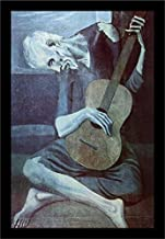 Buyartforless Framed The Old Guitarist by Pablo Picasso 18x12 Art Print Poster Museum Masterpiece