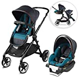 Evenflo Gold SensorSafe Pivot Xpand, Smart Modular Travel System, Includes SecureMax Smart Infant Car Seat and Adjustable Toddler Seat, Fits Two Baby Seats, Fits Infants up to 55 Pounds, Sapphire