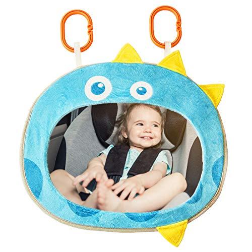 Espejo Retrovisor Coche Bebé - YUESEN Vista Posterior del Espejo del Asiento Trasero de la Seguridad del Coche del niño del bebé 360 Grados Ajustable