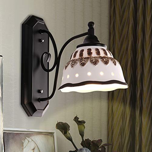 De enige goede kwaliteit Decoratie Amerikaanse Land Eenvoudige Keramische Wandlamp Retro Tuin Nachtlampje Dimbaar Aisle Lights mediterrane Corridor Lampen Villa