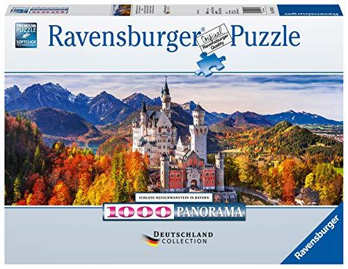 Ravensburger- Schloss In Bayern Castillo Neuschwanstein, Bavaria, Multicolor, 1000 piezas (15161)