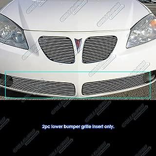 APS Compatible with 2005-2008 Pontiac G6 Lower Bumper Billet Grille Insert S18-A13156P