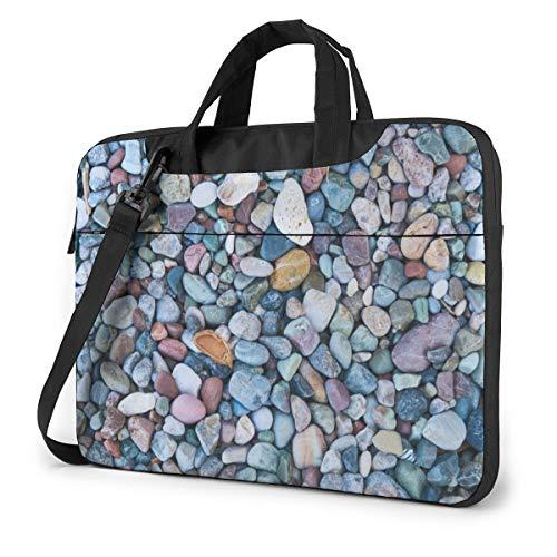 Blue Pebble Stone Computer Bag Durable Laptop Briefcase Shoulder Messenger Bag for Computer Notebook 13 inch