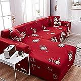 MWKL Lujoso Fundas modulares elásticas elásticas Funda de sofá para Sala de Estar Funda de sofá Toalla en Forma de L Funda de sillón 2 plazas