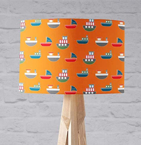 Orange Boote am Meer Lampenschirm für Tischlampe oder Deckenlampe