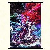 Haushele OFD NO Game NO Life Anime Spiel Poster Sora Shiro Zimmer Dekoration Rollbild Poster(L H03)
