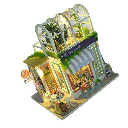 Lizefang Casa de muñecas de Madera con Muebles Kit de casa de muñecas DIY más a Prueba de Polvo y LED Juguete de casa de muñecas con ensamblaje de Madera 3D Proyecto Educativo Stem Hobby Well Made