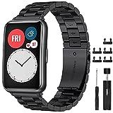 CAVN Cinturino Compatibili Huawei Watch Fit, Cinturino Huawei Watch in Metallo in Acciaio Inossidabile con...