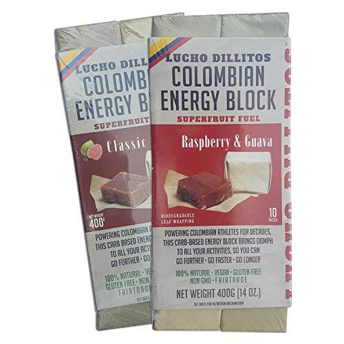 Barras de energía de Guayaba Natural – 2 x 400 g de alto contenido de carbohidratos de alta energía y gel deportivo en uno para máxima resistencia – Vegan sin glute – Guayaba y frambuesa