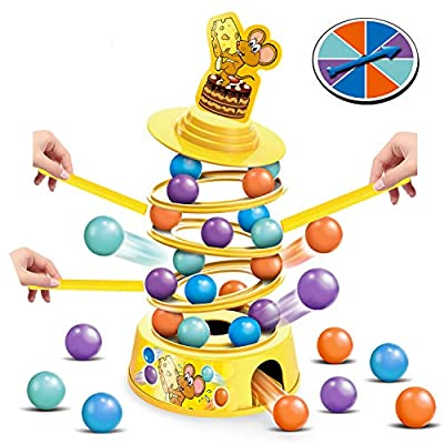HISTOYE Tower Stacking Fun Board Gamefor Kids 4-6Adults BalanceSuspendFamilyGames forPartyMontessori Tumbling Educational Fine Motor Skills Toys Gifts for 45 6 7 8 9+ Years Old Boys & Girls