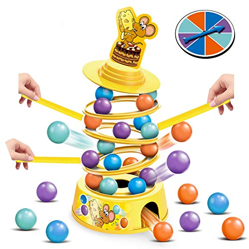 HISTOYE Tower Stacking Fun Board Game for Kids 4-6 Adults Balance Suspend Family Games for Party Montessori Tumbling Fine Motor Skills Toys for 4 5 6 7 8 9+ Years Old Boys & Girls