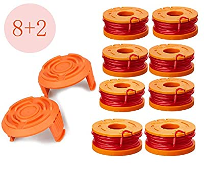 LEIMO Trimmer Spool Line for Worx?Edger Spool Compatible with Worx Trimmer spools Weed Eater String,Trimmer Line Refills 0.065 inch for Electric String Trimmers?Weed Wacker Spool Replacement Parts