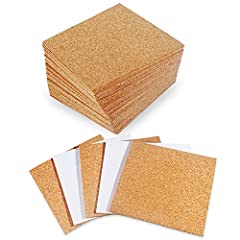 Be Creative - These softwood Self Adhesive Cork Tiles can be easily cut into any shape you want. You can use the whole sheet or you can cut them into small pieces. Versatile Cork Coasters - These Cork Coasters can work with cups, pots, plants and fur...