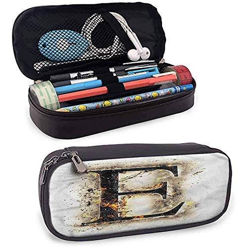 Astuccio portamatite cool lettera E Blaze Hot Fire E Sign Light Matita Bag Beautiful Pattern
