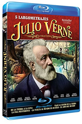 From The Earth To The Moon + Journey To The Center Of The Earth + Mysterious Island + Around the World in 80 Days + Master Of The World (Spanish Release) Jules Verne Collection