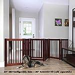 "PRIMETIME PETZ 33233 Extension Kit for 360 Configurable Walk Through Folding Pet Gate,Walnut,30"" 12"