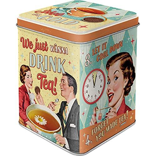 Nostalgic-Art Retro Teedose Tea & Cookies Together – Idea de Regalo nostálgico, para Guardar Suelto y Bolsas de té, Diseño Vintage, 100 g