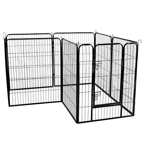 GUOfeudallord Best Metal Puppy Dog Run Fence/Iron Pet Dog Playpen
