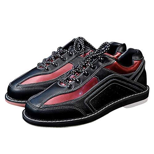 FJJLOVE Herren Womens Bowls Schuhe, Unisex Lace Up Bowlingschuh Outdoor Atmungsaktive Bowling Sneaker,Schwarz,45