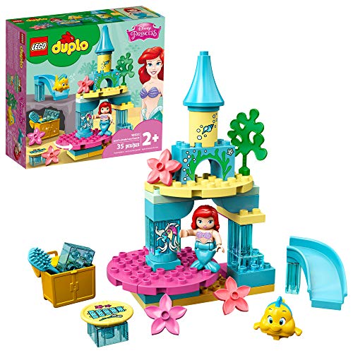 LEGO DUPLO Disney Ariels Undersea Castle 10922 Imaginative Building Toy for Kids; Ariel and Flounder's Princess Castle Playset Under The Sea, New 2020 (35 Pieces)